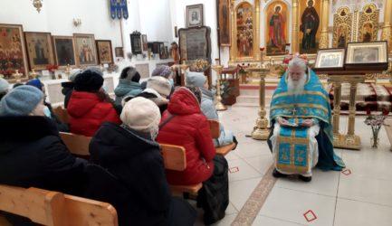 В воскресенье 21 февраля 2021 года в Вознесенском соборе г. Ржева состоялась беседа на тему притчи о мытаре и фарисее
