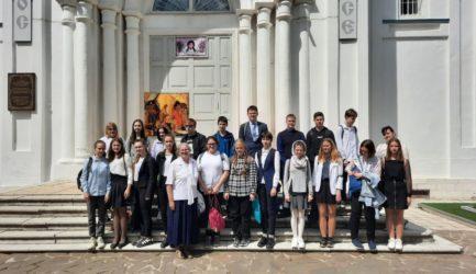 Учащиеся 8 класса МОУ «СОШ №12» г. Ржева посетили музей «Православные святыни земли Ржевской».