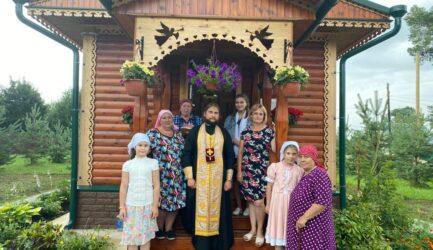 В часовне с/п Медведево в праздник памяти преп. Сергия Радонежского состоялся чин обедницы