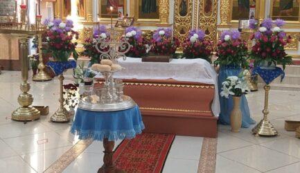 В праздник Успения Пресвятой Богородицы в Вознесенском соборе.