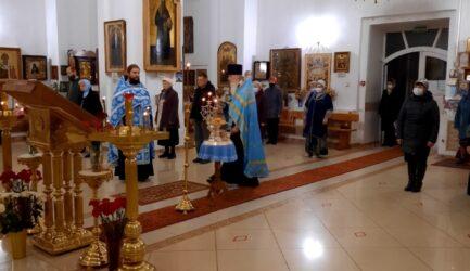 В праздник Покрова Божией Матери 14 октября в Вознесенском соборе г.Ржева